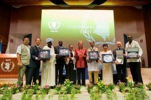 日本チーム、東日本大震災に際しての支援活動でWFP功労賞を受賞