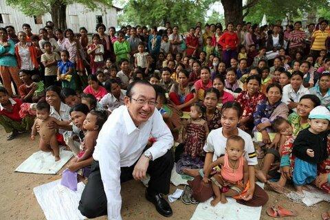 国連WFP協会会長 安藤宏基 カンボジア視察報告会