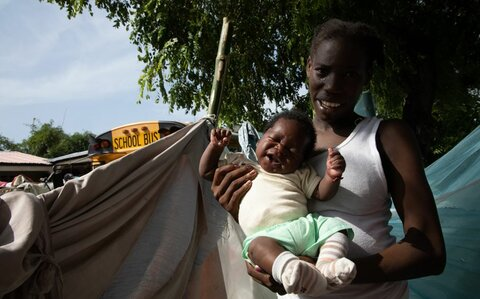 ハイチ地震: 「寝る場所さえない人たち、特に子どもを見るのはつらいです」